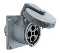 Hubbell M4100R12 100A - 125/250V Dockside Receptacle