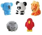 Amazon.com: Genuine JUNGLE Mania Collection Complete Set of 5 Regular Sealed Squishies: Toys & Games
