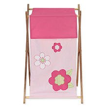 Kids Laundry Hamper for the Pink and Green Flower Collection by JoJo