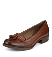 Footglove™ Leather Wide Fit Tassel Loafers