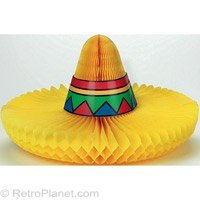 Fiesta Sombrero Honeycomb Centerpiece Party Accessory