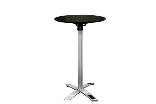Yang Black / Silver Folding Event Table Tall Height