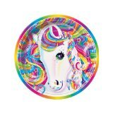 "Lisa Frank Rainbow Majesty Unicorn 9"" Paper Plate (8 Count)"