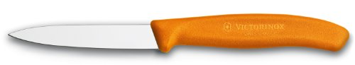 Victorinox Swiss Classic 3-1/4-Inch Paring Knife with Spear Tip, Orange Handle