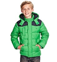 Hooded & Padded Jacket with Stormwear™
