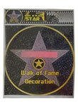 Star Walk of Fame Peel-N-Place - SINGLE SHEET