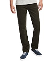 Pure Cotton 5 Pocket Tapered Leg Corduroy Trousers