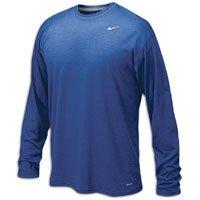 Nike Mens Legend Poly Long Sleeve Dri-Fit Training Shirt Game Royal Blue/Matte Silver 384408-493 Size X-Large Mind Games T-Shirt