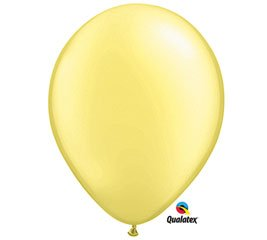 "Qualatex 11"" Pearlized Lemon Chiffon Latex Balloons (10 ct) - 1"
