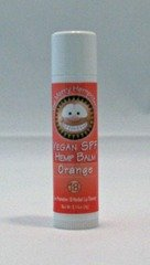Merry Hempsters – Orange SPF 18 – Vegan Hemp Lip Balm Tube W/SPF 18 .14 oz