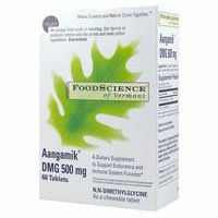 Foodscience Of Vermont Aangamik Dmg 500 Mg. - 60 Chewable Tablets, 2 Pack (Image May Vary)