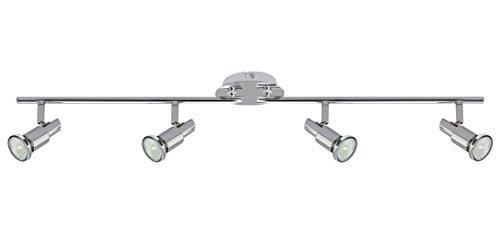 Trango® TG2890-048B LED Deckenleuchte 4-flammig inkl. 4x GU10 LED Warm-Weiß LM, Deckenstrahler m. Gelenken