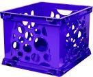 Storex Mini Stackable Storage Crate - Purple
