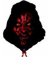 "22"" DARTH MAUL SHAPE STAR WARS - 1"