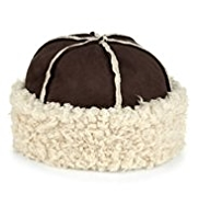 M&S Collection Faux Shearling Turn Up Hat