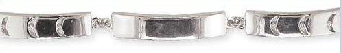 Wunderschönes 925 Sterling Silber (Rhodiniert) Damen – Diamant Armband Brillant-Schliff 0.09 Karat G-VS – 18cm kaufen