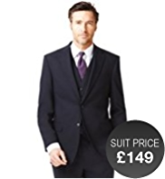 Big & Tall Ultimate Performance 2 Button Suit with Wool