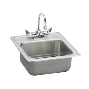 Elkay Bpsra150C Gourmet Pacemaker Stainless Steel 12 1/2-Inch Single Basin Top-Mount Bar Sink Package With Faucet