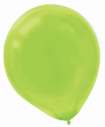 "Amscan Bulk Solid Color Latex Balloons, 12"", Kiwi Green"