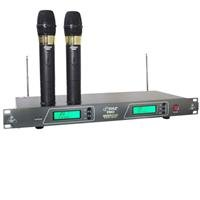 Pyle-Pro Pdwm2550 19'' Rack Mount Dual Vhf Wireless Rechargeable Handheld Microphone System