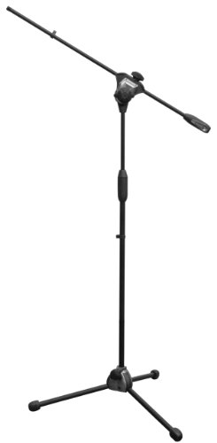 Bespeco Professional Microphone Stand With Boom And Telescopic Height Adjustment