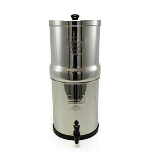 "Big Berkey With (4) 9"" British Berkefeld Ceramic Supersterasyl Water Filters"