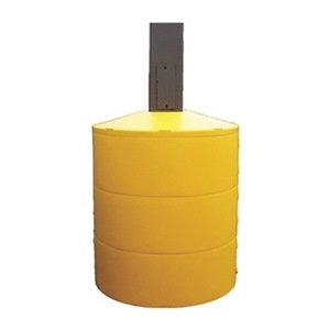 Pole Cover, 3 Ring, 4In Square, Yellow mercury slip ring 1 pole 50a