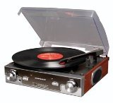 Crosley Radio CR6005A-MA Tech Turntable (Mahogany)