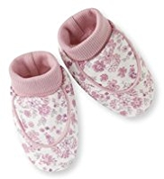 Pure Cotton Floral Booties