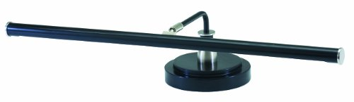 House Of Troy Pled101-527 4-Inch Portable Led Piano Lamp, Black With Satin Nickel Accents