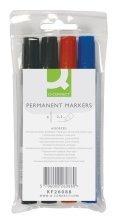 connect-permanent-markers-round-point-4-pieces-marcador-permanente-multicolor