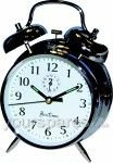 ACCTIM Saxon Large Double Bell Alarm Clock Chrome