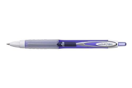 Uni-ball Signo Colours RT UMN-207F - Bolígrafo de punta redonda (12 unidades), color morado