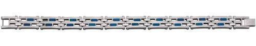Colibri Mens Industry Stainless Steel & Blue Titanium Bracelet QBR102100 – Colibri QBR102100