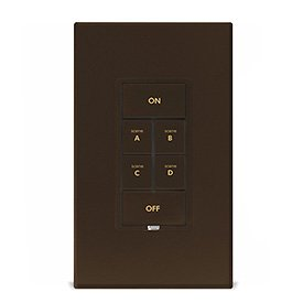 Insteon Keypad Dimmer Switch (Dual-Band), 6-Button, Brown