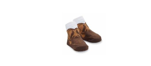 Mud Pie Baby-Boys Newborn Cowboy Boot Sock, Brown/Tan, 0-12 Months