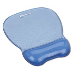 INNOVERA Gel Mouse Pad w/Wrist Rest, Nonskid Base, 8-1/4 x 9-5/8, Blue (51430)
