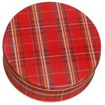 Scott's Cakes Empty Mini Plaid Tin