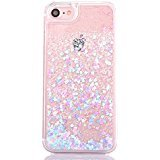 iPhone 6s plus case,iphone 6 plus case, liujie Liquid Cool Quicksand Moving Stars Bling Glitter Floating Dynamic Flowing Case Liquid Cover for Iphone 6s plus 5.5inch (pink heart) (Cool Iphone 6 Cases For compare prices)