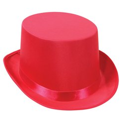 Satin Sleek Top Hat (pink) Party Accessory  (1 count) - 1