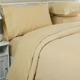 1000 Thread Count Queen Size 4Pc Egyptian Bed Sheet Set, Deep Pocket, Camel front-963148