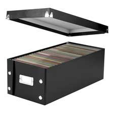Snap-N-Store SNS01524 DVD Storage Boxes Holds up to 26 DVDs (Glossy Black with Chrome Accents) (Ideastream Consumer Products, LLC)