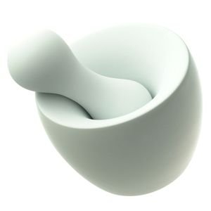 Full Contact Mortar & Pestle by Mint : R052434 - Color : White Matte