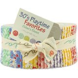 30's Playtime Favorites By Chloe's Closet Moda Jelly Roll, Set of 40 2.5x44-inch (6.4x112cm) Precut Cotton Fabric Strips