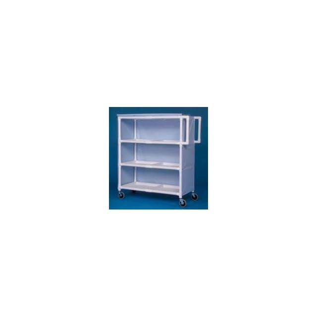 IPU LC243 Jumbo Linen Cart   Three Shelves