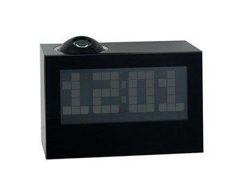 Fashion Multifunction Wide Screen Led Projector Alarm Clock (Black)