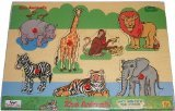 Picture of Safari Peek Inside Wood Puzzle - Zoo Animals (B001NWSTD4) (Pegged Puzzles)