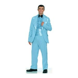 Prom King Tuxedo (Light Blue) Adult Halloween Costume Size Standard