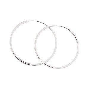 JR Jewellery High Quality .925 Sterling Silver 30mm Plain Sleeper Hoop Earrings