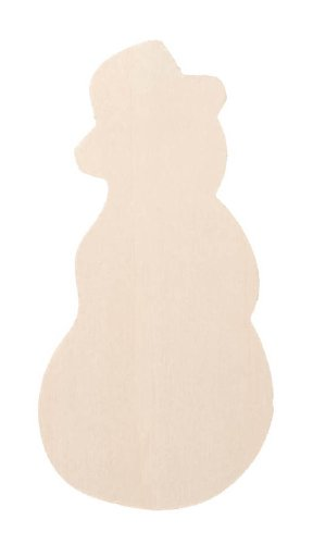 Darice 9133-67 Unfinished Plywood Snowman, 4-Inch